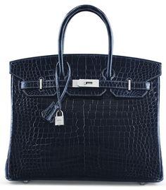 Un sac Birkin en croco et diamants chez Christie's | Vogue