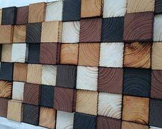 Houten muur Art - teruggewonnen hout Art Sculpture - rustieke Wall Art