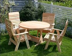 """Red Cedar Estate Patio Dining Collection by Fifthroom. $1799.00. Table: 47""""Dia x 30""""H. Chair Overall: 29""""W x 25""""D x 45""""H. Hardware: Zinc Plated Steel. Free Shipping. Seat & Back: 22""""W x 20""""D x 26""""H. Receive big discounts by purchasing our patio dining sets.This Dining Set Features:(1) 47"""" Round Trestle Table - [WF6401](4) Royal Highback Chairs - [WF1130]"""