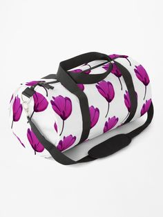 Purple flower • Millions of unique designs by independent artists. Find your thing. Purple Flowers, Cotton Tote Bags, Chiffon Tops, Gym Bag, Classic T Shirts, Backpacks, Artists, Unique, Stuff To Buy