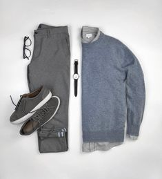 14 Stunning Outfit Grids To Help You Look Amazing Mens Fashion Blog, Look Fashion, Daily Fashion, Fashion Outfits, Casual Outfits, Men Casual, Formal Outfits, Mens Attire, Outfit Grid