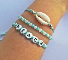 braided bracelet # geflochtenes Armband Why you need the Flat iron sedu tourmaline The sedu tourmali Homemade Bracelets, Diy Bracelets Easy, Beach Bracelets, Summer Bracelets, Bracelet Crafts, Cute Bracelets, Summer Jewelry, Bracelet Set, Fashion Bracelets