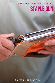 Wondering how to load a staple gun? With our simple instructions, you will be back to stapling in no time. #sawshub #staple #staplegun #work Woodworking Projects Diy, Woodworking Tools, Cheap Tools, Staple Gun, Nail Gun, Scrap Material, Great Gifts For Men, Wood Plans, Hand Guns