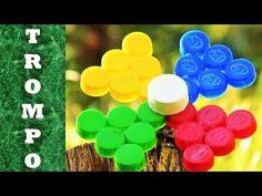 Bottle Top Crafts, Plastic Bottle Crafts, Plastic Bottles, 5 Min Crafts, Diy Organisation, Chai, Margarita, Origami, Crafts For Kids