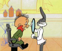 Bugs Bunny & Elmer Fudd; one of my all-time favorite cartoons
