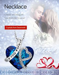 I Love You Forever - Crystals from Swarovski Necklaces & Pendants #Necklace #Crystals #Swarovski #Pendants #jewelry