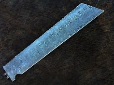 HANDMADE DAMASCUS steel BLANK BLADE WITH NEW LADDER PATTERN TENTO STYLE KNIFE #HANDMADE