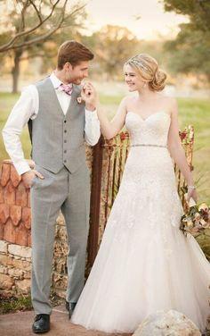 D2122 Strapless A-line wedding dress by Essense of Australia