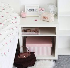 ♡ cute storage for nightstand