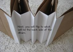 an awesome way to bind your paper bag album.