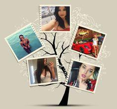 Collage 5 fotos árbol familiar