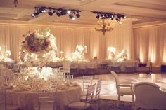 Draping with Ivory Wash Lighting