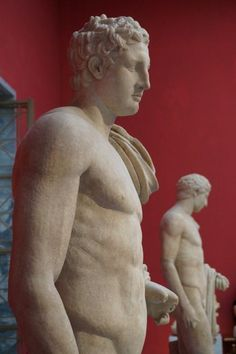 statues at the National Archaeological Museum