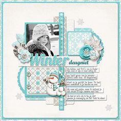 Scrapbook Layouts | Digital Scrapbook Layout - Scrapster credits: Winter Wonderland by ...