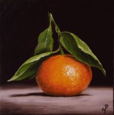 Clementine, J Palmer Daily painting Original oil still life