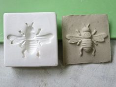 Clay Stamp Honeycomb Bee Pottery Press Mold Relief Mold or Sprig ...