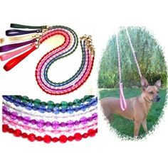 Designer Dog Collars - crystal beaded leashes    Follow us on Facebook & Twitter @queenofpaws