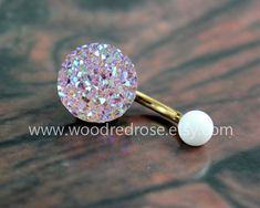 ★Size: Surgical Steel Size: 1.6mm*10*5/8mm (14G),5mm top ball /8mm bottom ball Because Druzy Crystal is natural, so each is unique. And because the