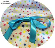 Stoffpakete - Stoffpaket♥Loop♥ DIY Sterne-dots bunt Schleife - ein Designerstück von kreawusel-aufgehuebscht bei DaWanda