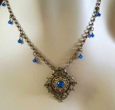 Sparkling Blue Victorian Necklace http://www.etsy.com/listing/34197331/sparkling-blue-victorian-necklace?ref=shop_home_active