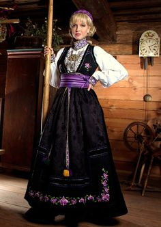 Mari's beltestakk Folk Costume, Costumes, Norwegian Style, Bridal Crown, Culture, Traditional, Vacation, Clothing, Wedding