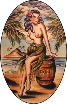 traditional hula girl tattoo - Google Search More