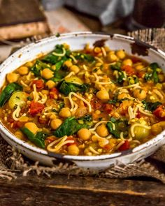 Fragrant and delicious, this soul-warming, oil-free Moroccan Harira is ultra-comforting, easy to make, and a delightful nod to the Moroccan cuisine. #wholefoodplantbased #vegan #oilfree #glutenfree #plantbased | monkeyandmekitchenadventures.com Indian Food Recipes, Whole Food Recipes, Dinner Recipes, Healthy Recipes, Ethnic Recipes, Moroccan Dishes, Moroccan Recipes, Moroccan Spices, Vegetarian Entrees