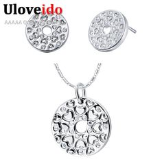 Find More Jewelry Sets Information about 925 Sterling Silver Women Crystal Jewelry Set Wedding Cheap Costume Fashion Jewelry Sets Heart Earrings Necklace Set Ulove T284,High Quality necklace marble,China necklace steel Suppliers, Cheap necklace white from ULOVE Fashion Jewelry on Aliexpress.com