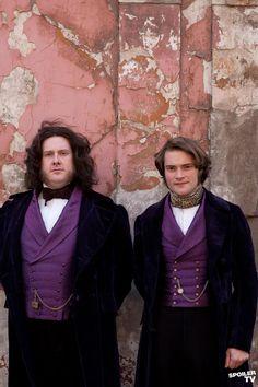 DESPERATE ROMANTICS: A BBC six-part drama following the Pre-Raphaelite brotherhood. Pictured: Dyfrig Morris as William Morris (left) & Peter Sandys-Clarke as Edward Burne-Jones. Morris appears in 2 episodes.