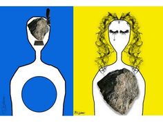 The lady with the stone on chest, the man with the feathered stone in his head joint work with another Libyan artist  #Libya #libyanproverb #popart #allabudabbus #libyanartist #libyatripoli #alabodabose #Libyanpopartist #OldLibya #LibyanWoman #LibyanTraditional #Art #artists #abstractart #arte #color #colour #creative #drawing #drawings #fineart #watercolor #watercolour #sketch #art #streetart #doüberrascht #ruhrpott #popart #andywarhol #drawing #Traditions #LibyanProverb #Libyan…