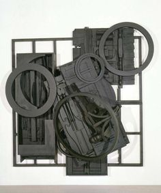 """""""Mirror-Shadow VIII"""" 1985 Louise Nevelson, American, 1899 - A unique piece of art, expresses the asymmetrical combination between different shapes and sizes. Outdoor Sculpture, Wood Sculpture, Wall Sculptures, Sculpture Projects, Sculpture Ideas, Louise Nevelson, Art Through The Ages, Contemporary Sculpture, Assemblage Art"""