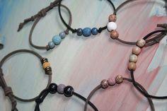 Lava stone bracelet , Essential Oil bracelet , Aromatherapy bracelet, Diffuser bracelet , Leather bracelet by EsperanzaViva on Etsy