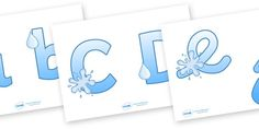 Display Lettering & Symbols (Water) - Display lettering, water