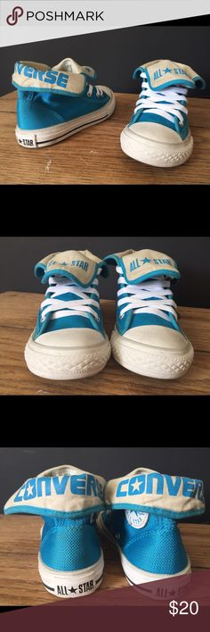 Girls Converse Shoes - Size 12 Girls Converse Shoes - Size 12 - Teal - pre owned, good condition- see pictures Converse Shoes Sneakers