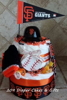 San Francisco Giants Diaper Cake Gift by 209 Diaper Cakes & Gifts on Etsy