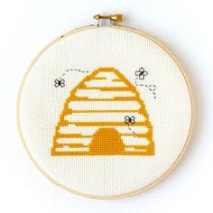 Beehive Cross Stitch Kit – Stitched Modern
