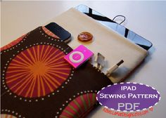 PDF iPad case PATTERN - sewing diy tutorial for ipad or tablet sleeve cover protector. $7.00, via Etsy.