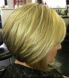 short hairstyles over 50, hairstyles over 60 - A line bob|trendy-hairstyles-for-women.com
