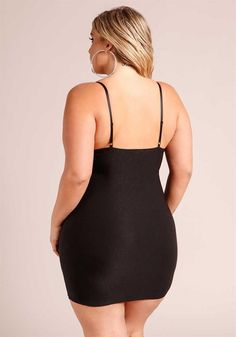 Plus Size Clothing | Plus Size Plunge Lace Up Bodycon Dress | Debshops