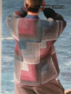 Crochet Patterns Coat Models in the style of 'patchwork' Kids Knitting Patterns, Coat Patterns, Knitting Designs, Knitting Projects, Crochet Patterns, Fair Isle Knitting, Free Knitting, Baby Knitting, Knitted Coat
