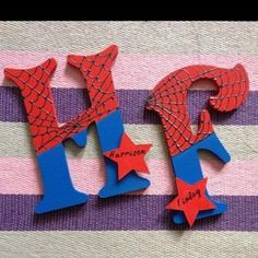 spiderman decorated letter