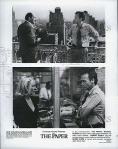 "1994 Press Photo Michael Keaton Robert Duvall and Glenn Close in ""The Paper"""