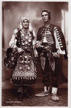 Serbian and Croatian folk costume from Dalmatia (Croatia) Greek Traditional Dress, Traditional Outfits, Folk Costume, Costumes, Middle East Culture, Dalmatia Croatia, Culture Clothing, Ethnic Design, Ethnic Dress