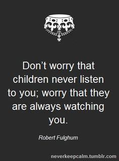 children watching.