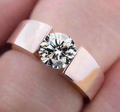 2015 nouveau haute qualité 18 K or rose Plaqué CZ diamant anneaux Top Conception engagement Band lovers Anneau pour Femmes Hommes livraison gratuite