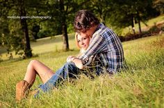 Cowboy boots, flannel, couple fall photoshoot