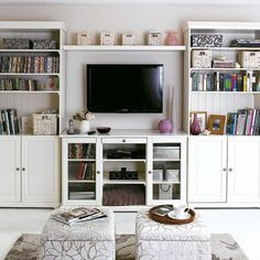 Double Duty : Choose furniture that serve multiple purposes to make the most out of them. For example, using a hollowed out ottoman for a coffee table or opting for a sofa bed that can double as a sofa and a bed. Source: House to Home
