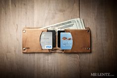 Nice simple design! Minimal Leather Wallet, Mens leather wallet, bifold wallet, thin leather wallet, Traditional 015