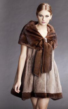 Cute, girly mink fur coat