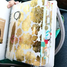 Marion Smith a5 gold foil planner dividers